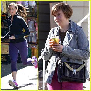 Lena Dunham & Allison Williams Film 'Girls' Season 3 in NYC