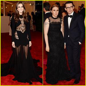 Lena Dunham & Allison Williams - Met Ball 2013 Red Carpet