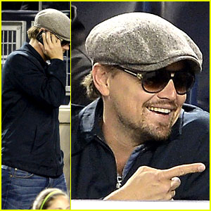 Leonardo DiCaprio: Yankees Game Dugout Dude!