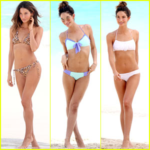 Lily Aldridge Shows Off Svelte Bikini Body for Beach Photo Shoot!