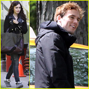 Lily Collins & Sam Claflin Film 'Love, Rosie' in Toronto!