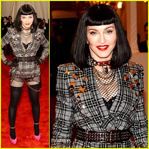 Madonna: Short Black Bob Hairdo on Met Ball 2013 Red Carpet