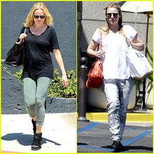 Malin Akerman & Kristen Bell: New Mamas in Hollywood!