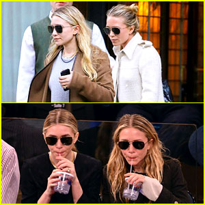 Mary-Kate & Ashley Olsen: In Sync at Basketball Game!