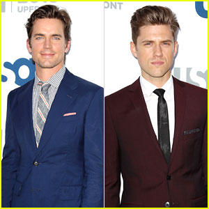 Matt Bomer & Aaron Tveit: USA Upfront 2013 Red Carpet!