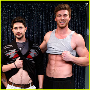 Matt Dallas & Derek Theler Replicate 'Kyle XY' Abs Flash Pose! | Baby Daddy, Chelsea Kane, Derek Theler, Jean-Luc Bilodeau, Kyle XY, Matt Dallas, Melissa Peterman, Shirtless, Tahj Mowry : Just Jared