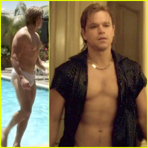 Matt Damon Goes Shirtless & Nude in 'Behind the Candelabra'