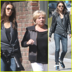 Mila Kunis Takes a London Stroll With Her Parents