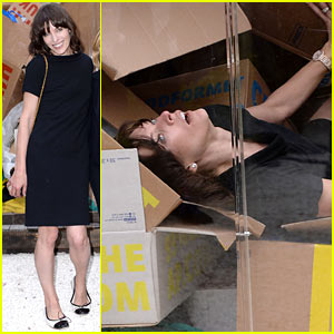 Milla Jovovich Performs in Plexiglass Cube for Biennale Festival