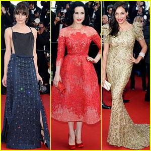 Milla Jovovich & Rosario Dawson: 'Cleopatra' Cannes Premiere!