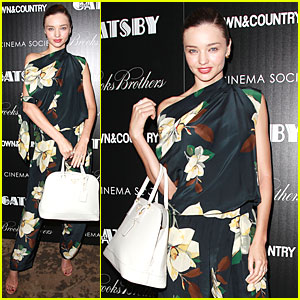 Miranda Kerr: 'The Great Gatsby' NYC Screening!