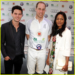 Naomie Harris & Jeremy Irvine Meet Prince William at Polo Event