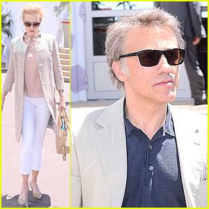 Nicole Kidman & Christoph Waltz: Cannes Jury Members Stroll!