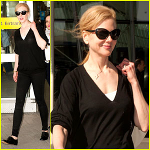 Nicole Kidman Jets to JFK After Closing Out Cannes!
