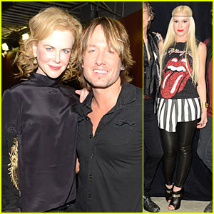 Nicole Kidman: Keith Urban Performs at Rolling Stones Concert!