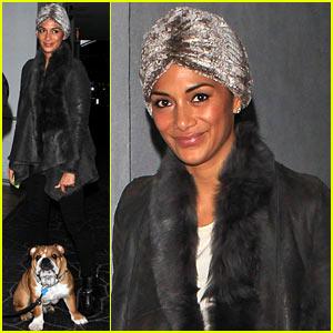 Nicole Scherzinger: E Baldi Dinner with Lewis Hamilton & Pup!