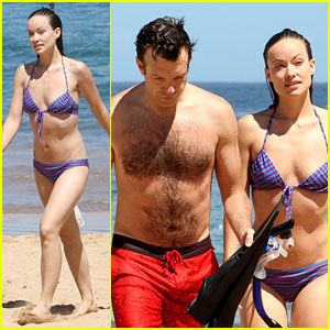 Olivia Wilde: Bikini Babe in Hawaii with Shirtless Jason Sudeikis!