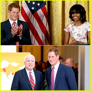 Prince Harry Visits Washington D.C., Meets Michelle Obama
