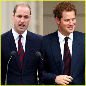 Prince William & Prince Harry: Matching Ties at Charity Event!