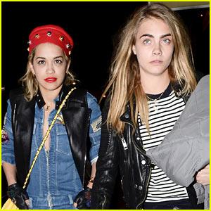 Rita Ora & Cara Delevingne Head to the Studio!