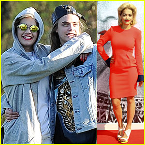 Rita Ora Launches Collection, Hangs with Cara Delevingne