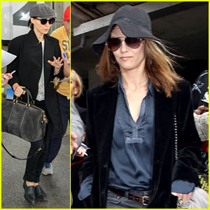 Rooney Mara & Vanessa Paradis Touch Down for Cannes!