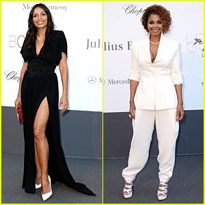 Rosario Dawson & Janet Jackson: amfAR'S Cannes Gala!