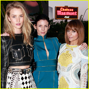Rosie Huntington-Whiteley & Liberty Ross: Balmain L.A. Dinner!
