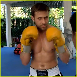 Ryan Gosling: Shirtless Boxing!