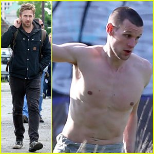 Ryan Gosling Works with Shirtless Matt Smith on 'Monster' Set