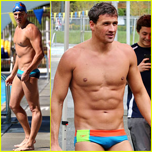Ryan Lochte: Shirtless Speedo Stud for Mel Zajac Jr. Meet!