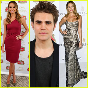 Stacy Keibler & Paul Wesley: Stella Artois Suite at Cannes!