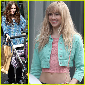 Suki Waterhouse & Lily Collins Film 'Love, Rosie' in Dublin!