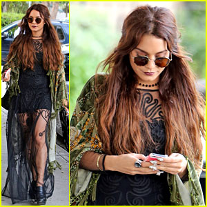 Vanessa Hudgens: Hipster Chic Style at Hair Salon! | Vanessa Hudgens