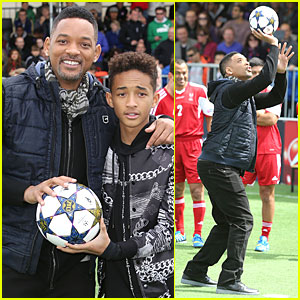 Will & Jaden Smith: UEFA's Champions Festival Duo!