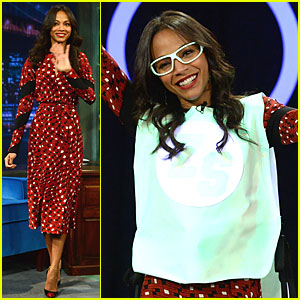 Zoe Saldana Glows in the Dark on 'Fallon'!