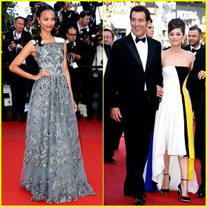 Zoe Saldana & Marion Cotillard: 'Blood Ties' Cannes Premiere!