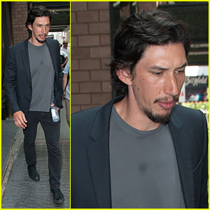 Adam Driver: Solo Stroll After Wedding!