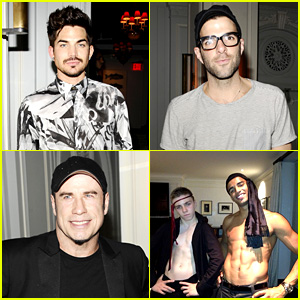 Adam Lambert & Zachary Quinto: Madonna's After Party!