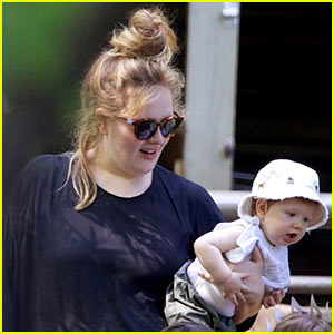 Adele And Baby Angelo