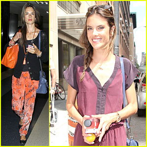 Alessandra Ambrosio: LAX Arrival After Secret Project in NYC!