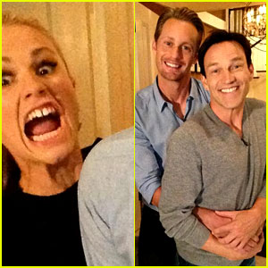 Alexander Skarsgard & Stephen Moyer: 'True Blood' Premiere Night Prom Photo!