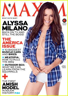 Alyssa Milano Bares Bod for 'Maxim' Magazine July/August 2013