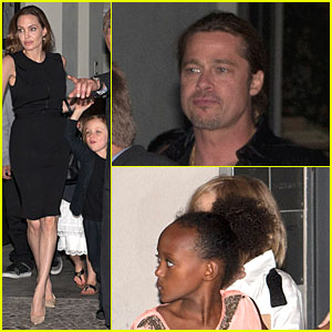 Angelina Jolie & Brad Pitt: Birthday Celebration at Kuchi Restaurant!