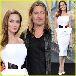 Angelina Jolie & Brad Pitt: 'World War Z' Birthday Premiere!