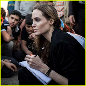 Angelina Jolie Meets with Syrian Refugees at Jordan Border