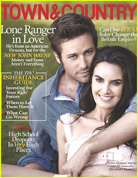 Armie Hammer and Elizabeth Chambers' wedding feature on Town & Country.