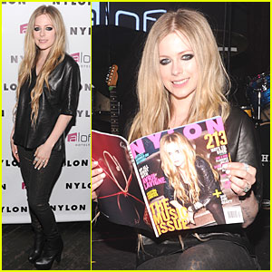 Avril Lavigne: 'Nylon' Magazine Cover Party!