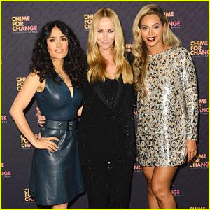 Beyonce & Salma Hayek: Chime for Change Concert Media Room!