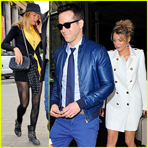 Blake Lively & Ryan Reynolds: Stylish London Hotel Exit!